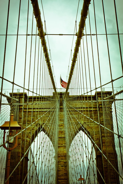 New York City, NY: Brooklyn Bridge.