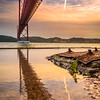 Under The Lisbon Bridge Reflection Fine Art Photography By Messagez com