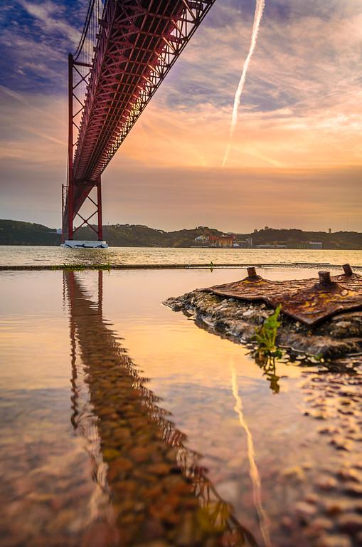 Under The Lisbon Bridge Reflection Fine Art Photography By Messagez com