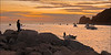 Fishing Fleet Sails at Dawn, Cabo San Lucas, Mexico