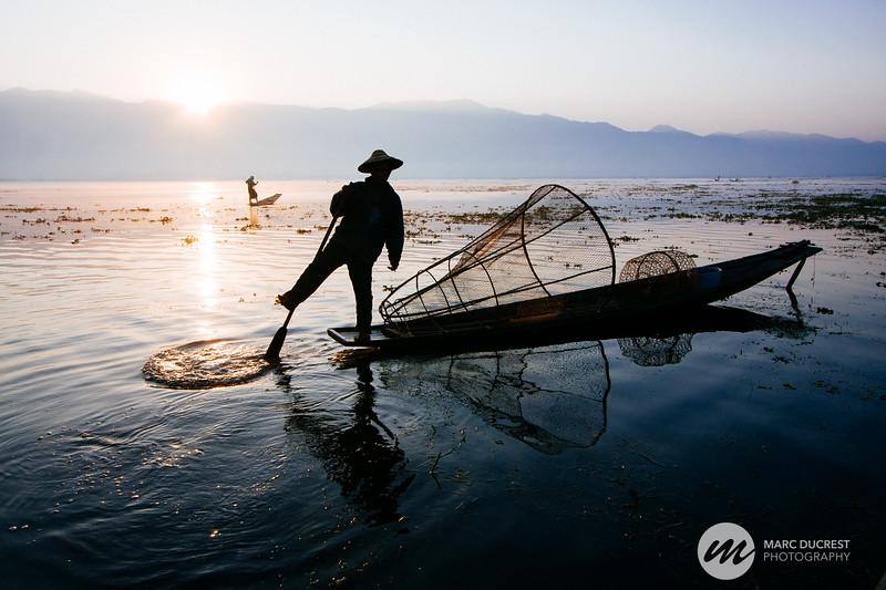 Lac Inlé , Myanmar