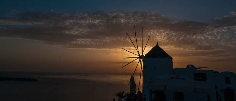 Windmill on the island of Santorini