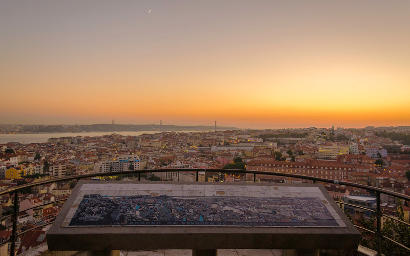 Magical Lisbon City Viewpoint at Sunset Photography Messagez com