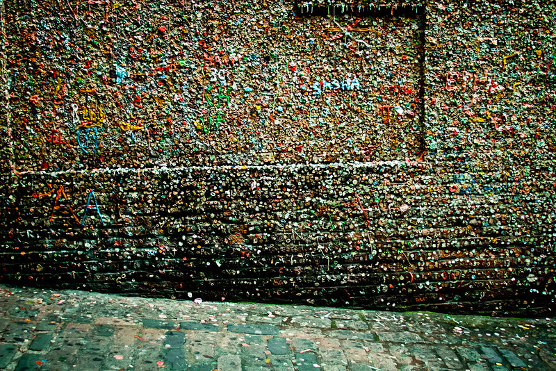Seattle, WA: Market Theater Gum Wall in Post Alley.