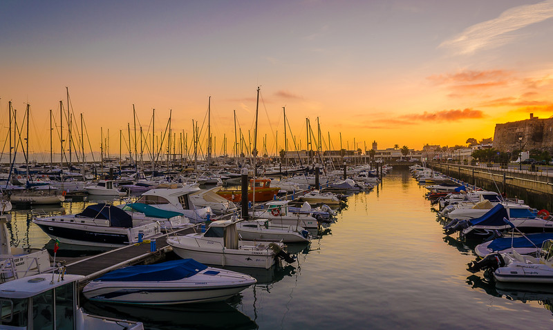 Original Portugal Cascais Marina Sunset Photography 2 By Messagez com