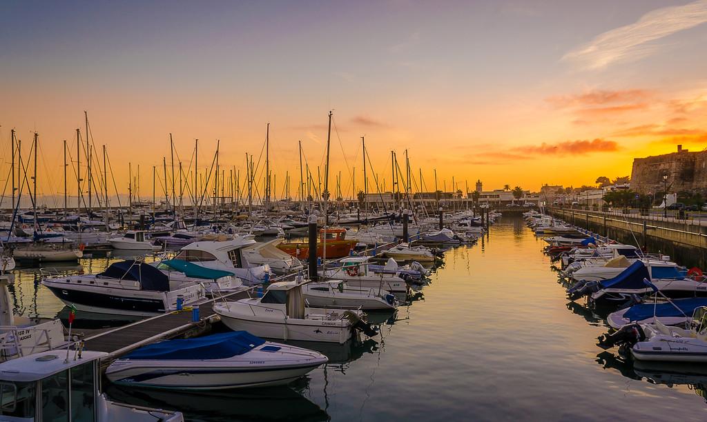 Original Portugal Cascais Marina Sunset Photography 2 By Messagez com