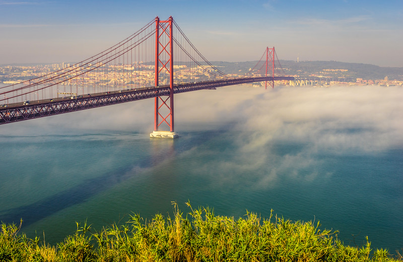 Original Lisbon 25th of April Bridge Landscape Photography 18 By Messagez com