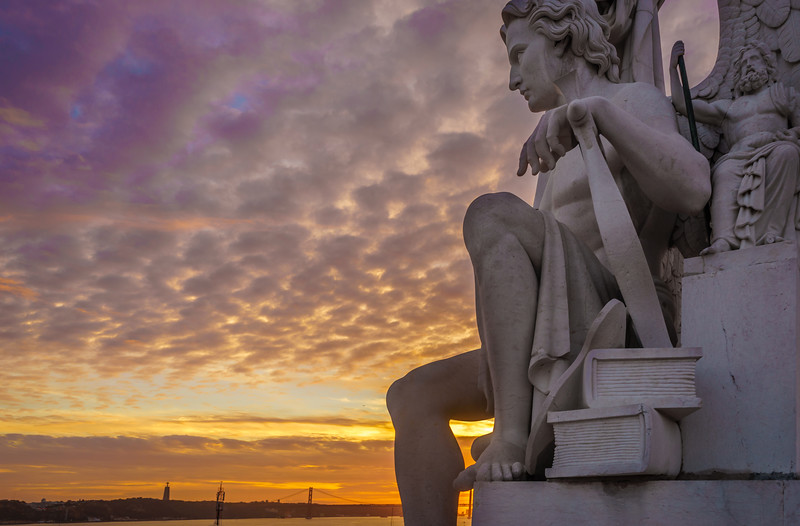 Lisbon Triumphal Arch Viewpoint Sunset Photography 4 By Messagez com