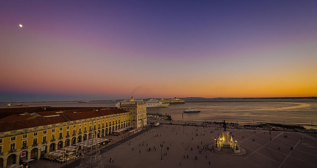 Lisbon Augusta Street Triumphal Arch Viewpoint Sunset Photography 6 By Messagez com