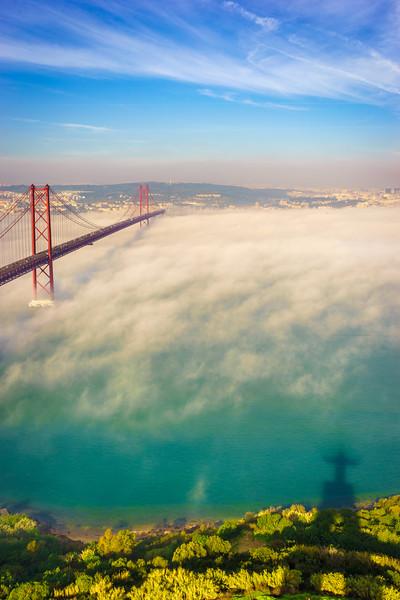 Original Lisbon 25th of April Bridge Landscape Photography 3 By Messagez com