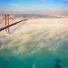 Original Lisbon 25th of April Bridge Landscape Photography 3 By Messagez com