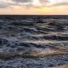 Sunset over a windy Limfjord in Jutland, Denmark.