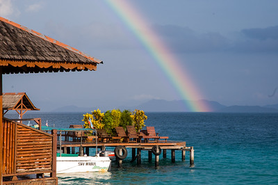 Rainbow over the dive shack