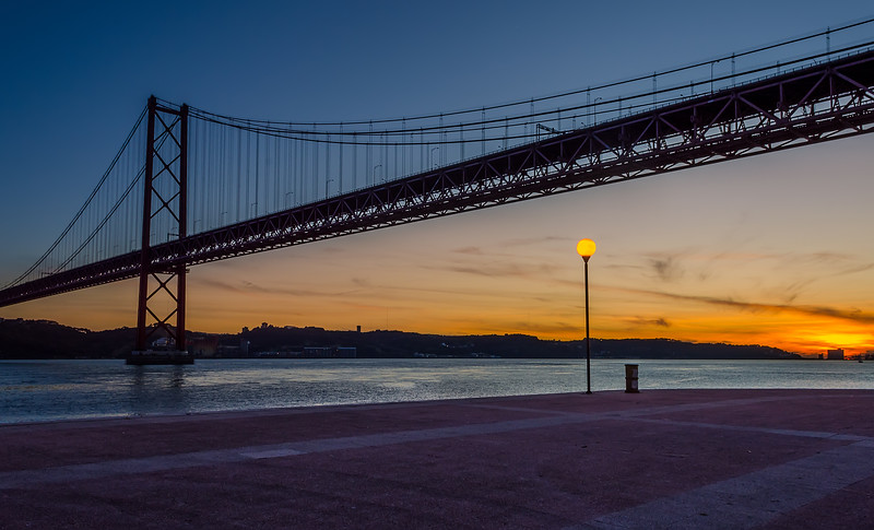 25 April Lisbon Bridge at sunset