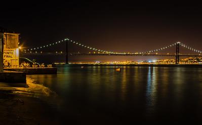 Lisbon Bridge at Night