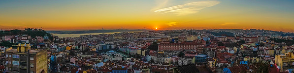 Best Lisbon Panoramic View at Sunset Photography By Messagez com