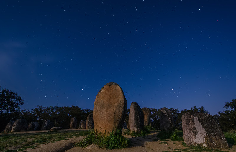 Portugal Cromlech of the Almendres Megalithic Complex Night Photography 2 By Messagez com