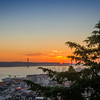 Lisbon Castle View Sunset Photography By Messagez com