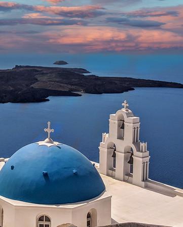 Resurrection of the Lord Imerovigli Holy Orthodox Church, Santorini, Greece