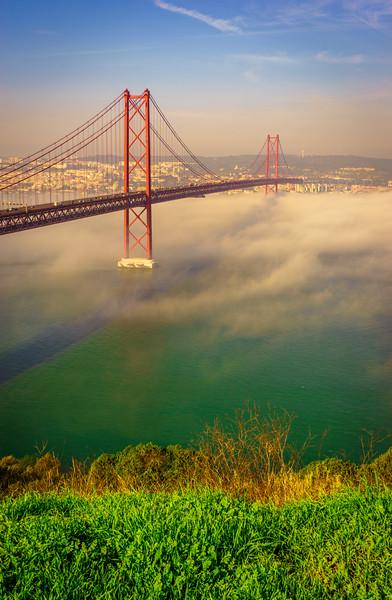 Original Lisbon 25th of April Bridge Landscape Photography 10 By Messagez com