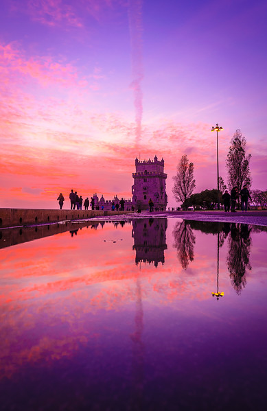Best of Portugal Lisbon Tower Sunset Reflection Photography 26 By Messagez com