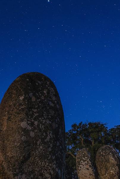 Portugal Cromlech of the Almendres Megalithic Complex Night Photography 12 By Messagez com