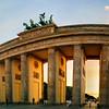 Sunset through the Brandenburg Tor
