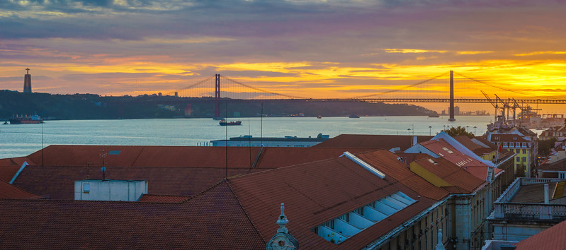 Lisbon Triumphal Arch Viewpoint Sunset Photography 17 By Messagez com