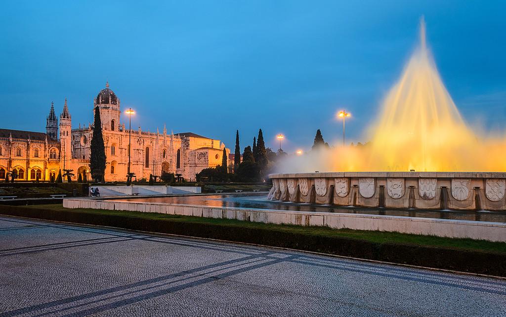 Lisbon Geronimos Fountain Blue Hour Fine Art Photography 3 By Messagez com