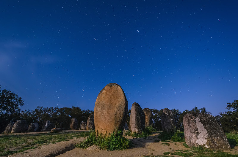 Portugal Cromlech of the Almendres Megalithic Complex Night Photography 21 By Messagez com