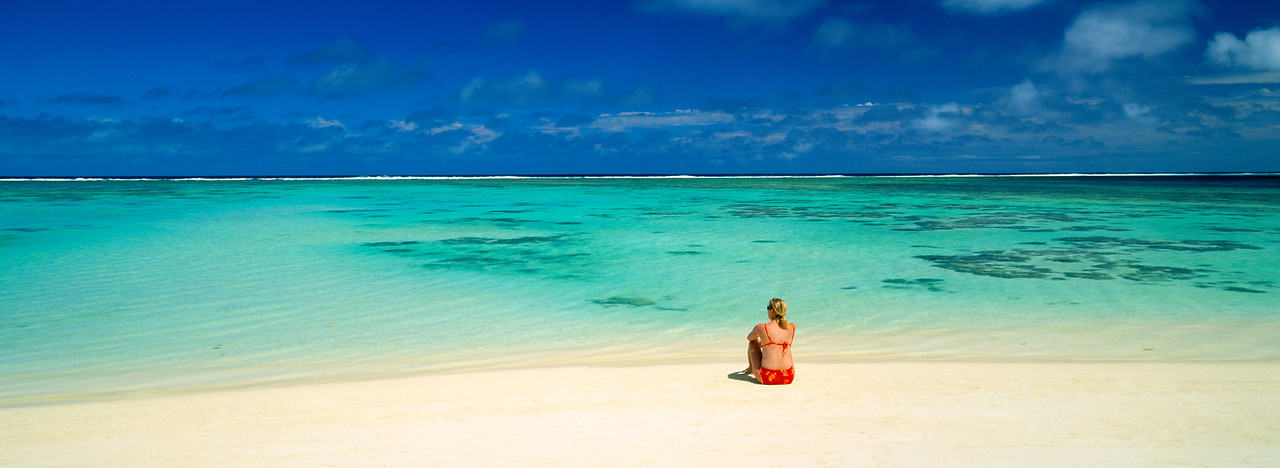 Relaxing on a South Pacific beach