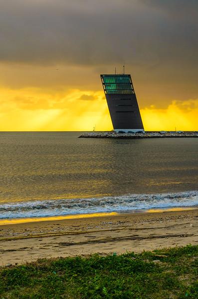Original Lisbon Oblique Tower at Sunset Photography By Messagez com