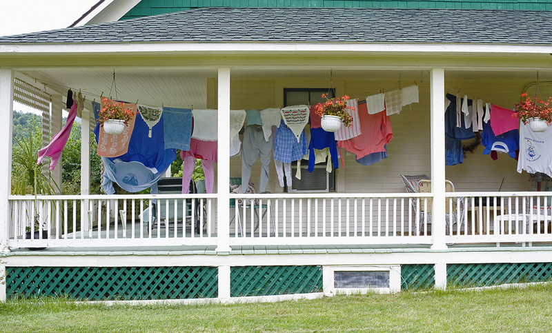 Laundry Hanging a Porch, Keene Valley, New York