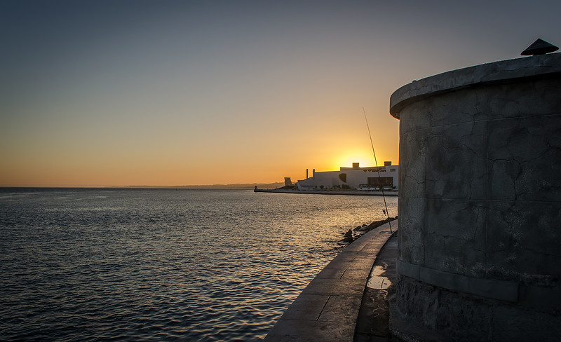 Fishing in Lisbon at Sunset Photography By Messagez com