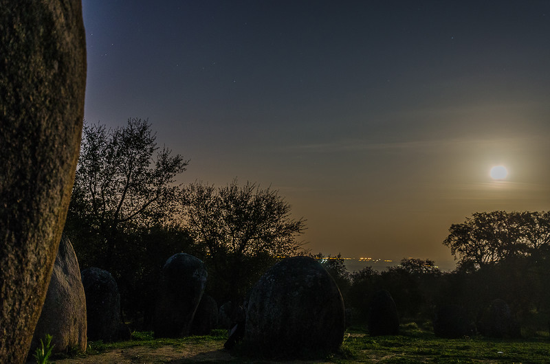 Portugal Cromlech of the Almendres Megalithic Complex Night Photography 15 By Messagez com