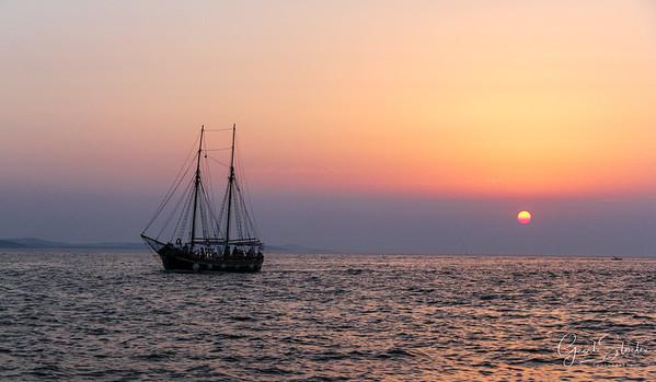 Ship near the coast of Zadar
