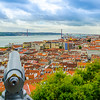 Lisbon Castle View Fine Art Photography By Messagez com