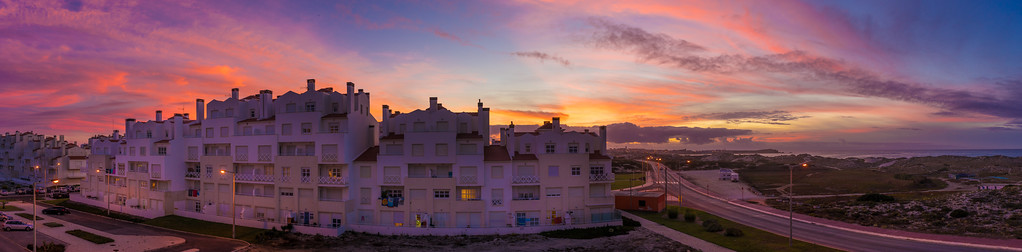 Baleal Peniche Sunset Landscape Panoramic Photography By Messagez com