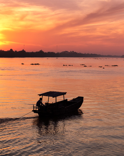 Sunrise on The Mekong Delta