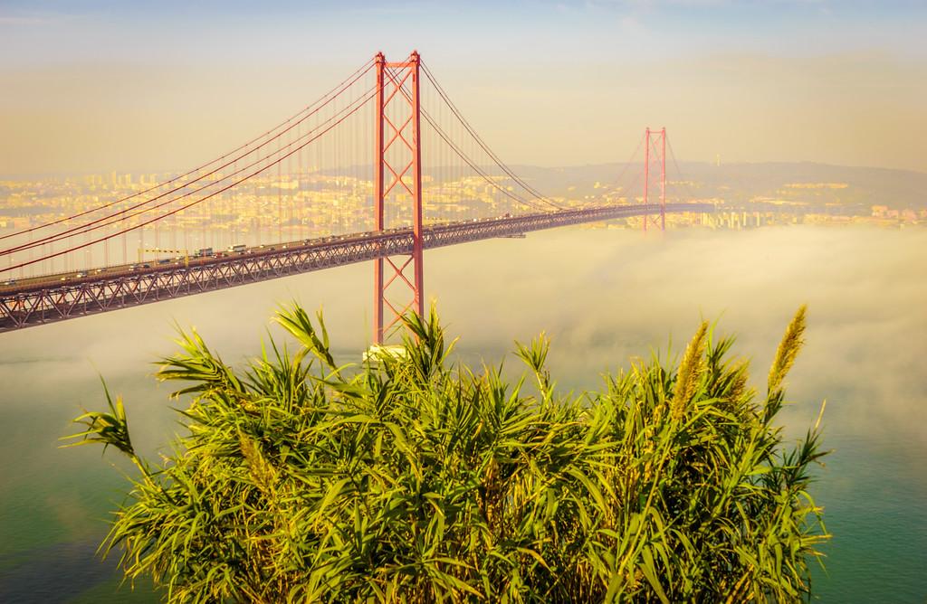 Original Lisbon 25th of April Bridge Landscape Photography 12 By Messagez com