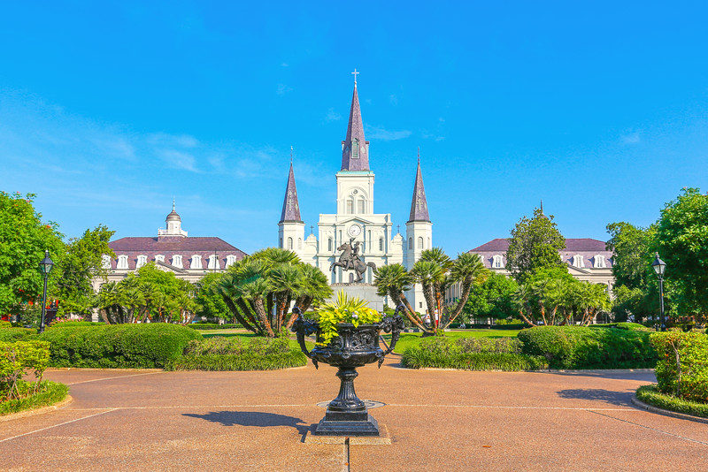 Jackson Square, New Orleans, Louisiana, USA.