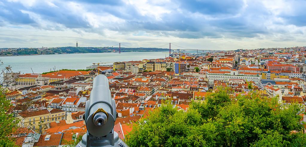 Lisbon Castle View Fine Art Photography By Messagez com
