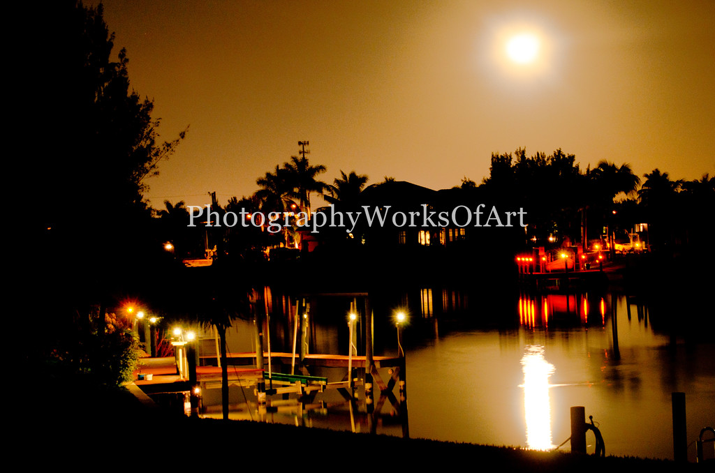 Moonrise Over Cape Coral