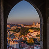 Lisbon Castle Window at Sunset