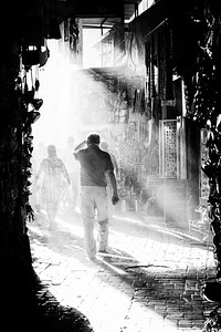 Walkers In The Street