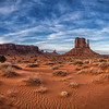 West Mitten butte in Monument Valley Navajo Tribal Park, Arizona
