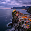 Just after sunset in Vernazza, Cinque Terre, Italy