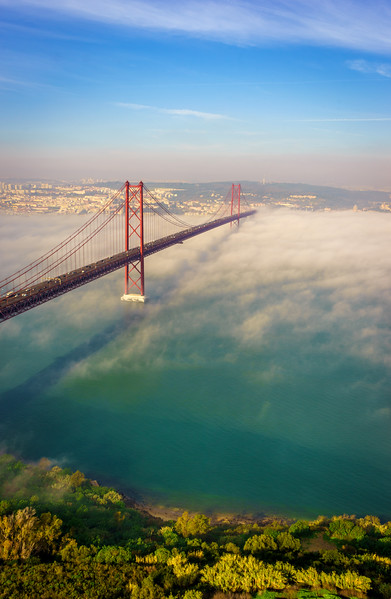 Original Lisbon 25th of April Bridge Landscape Photography 5 By Messagez com