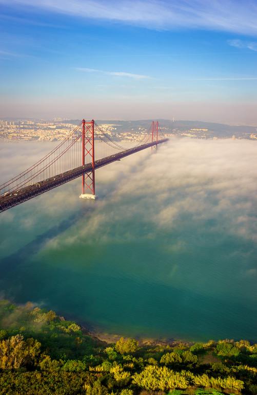 Original Lisbon 25th of April Bridge Landscape Photography 5 By Messagez com