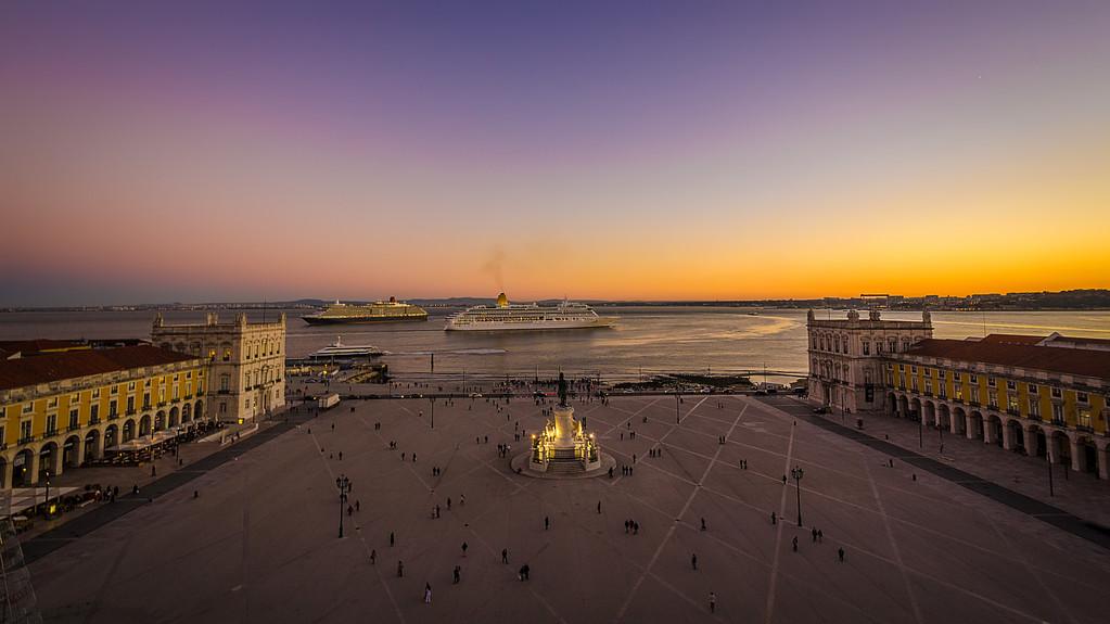 Lisbon Augusta Street Triumphal Arch Viewpoint Sunset Photography 8 By Messagez com